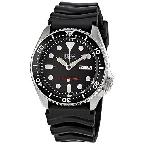 Seiko Mens Automatic Analogue Watch with Rubber Strap SKX007K