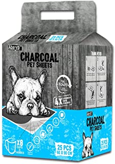 Absorb Plus Charcoal Pet Sheets 25 Sheets, Large