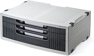 サンワダイレクト プリンター台 卓上 コンパクト 引き出し付き A4用紙収納 3段式 机上台 100-PS004