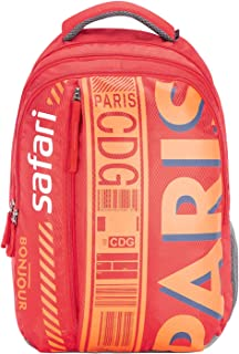 SAFARI 26.5 Ltrs Red Laptop Backpack (WANDERER19CBRED)