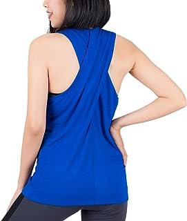 LOFBAZ Workout Tank Tops للنساء قمصان اليوغا الصالة الرياضية الملابس الرياضية زائد S-4XL