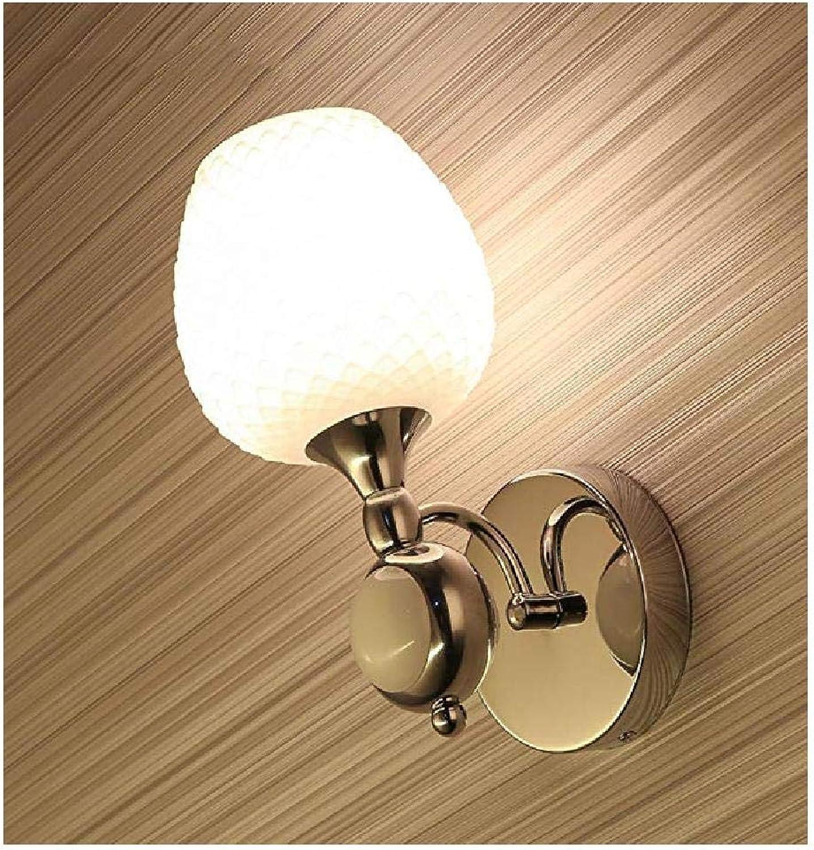 Schlafzimmer Wandleuchte Moderne LED Wandleuchte Nachttischlampe Eisen Glas Wandleuchte Schlafzimmer Leselampe Treppenhaus Ganglicht Kreative Wandleuchte