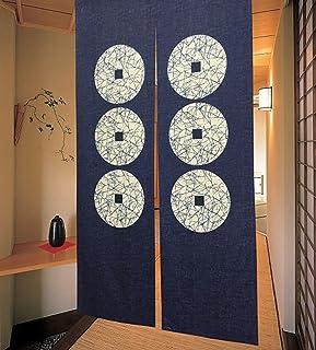 Cortina de puerta japonesa Noren para decoración del hogar, de LIGICKY, poliéster y mezcla de poliéster, Seis monedas, 33.5