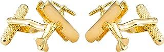 Knighthood أزرار أكمام ذهبية بتصميم النمر الطائرة الذهبي للرجال أزرار أكمام القمصان هدايا الزفاف التجارية مع صندوق هدايا