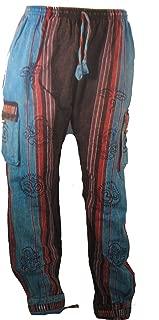 Commerce Équitable Ethnique 100/% Coton Pour Homme à Rayures Hippie Haut Grand-Père Chemise été Népal