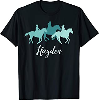 Hayden Name Gift Personalized Horse Girl T-Shirt