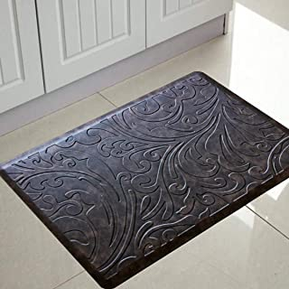 Pigchcy Luxurious Kitchen Rugs and Mats Anti Fatigue Comfort Floor Foam Mats Washable Non-Slip Cushioned Standing Durable ...
