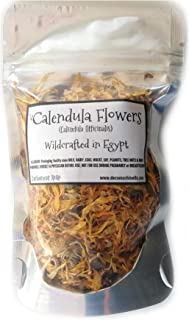 Reiki Charged Calendula Flowers Wildcrafted in Egypt Loose Leaf Dried Whole 10 gram bag Small Sample Tea