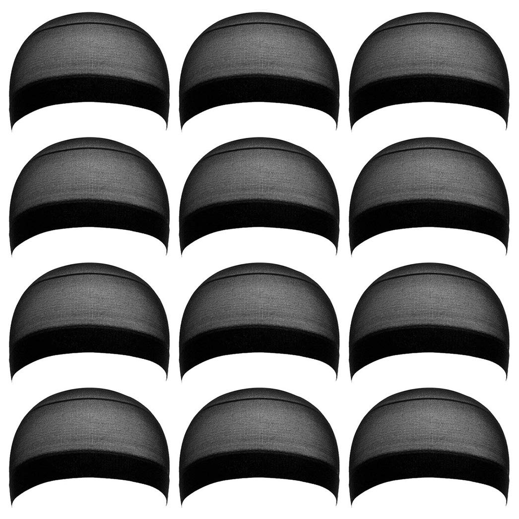 Black Breathable Stretchy Fits Skin Soft San Antonio Mall Wig Nylon Caps Wome Department store for