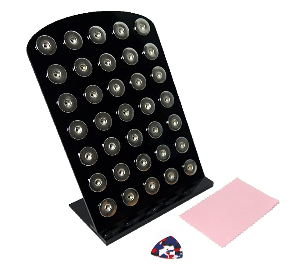 Ladieshow Acrylic Snap Button Jewelry Display Board for Larger Size 12mm 18mm 20mm Button