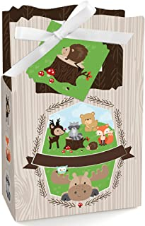 Woodland Creatures - Baby Shower or Birthday Party Favor Boxes - Set of 12
