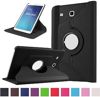 DETUOSI Funda para Samsung Galaxy Tab E 9.6 Funda 360° Girar de PU Cuero Carcasa para SM T560