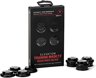 TRAININGMASK Elevation Training Mask Black Resistance Caps and Flux Valves, ONLY CAPS and VALVES