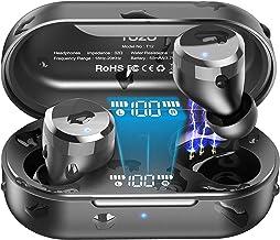 TOZO T12 Drahtlose Bluetooth Kopfhörer mit Touch-Steuerung und kabellosem Ladekoffer..