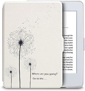 WALNEW Amazon ホワイトなKindle Paperwhite向け専用ケース Kindle Paperwhiteマンガモデル用カバー(Kindle Paperwhite (2018年に公開した第10世代)に適応できない)タンポポの絵 素材クリア マグネット機能搭載 最も薄く、最軽量の保護, タンポポ