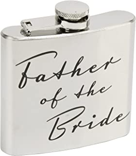 Oaktree Gifts Father of the Bride 5oz Stainless Steel Hip Flask