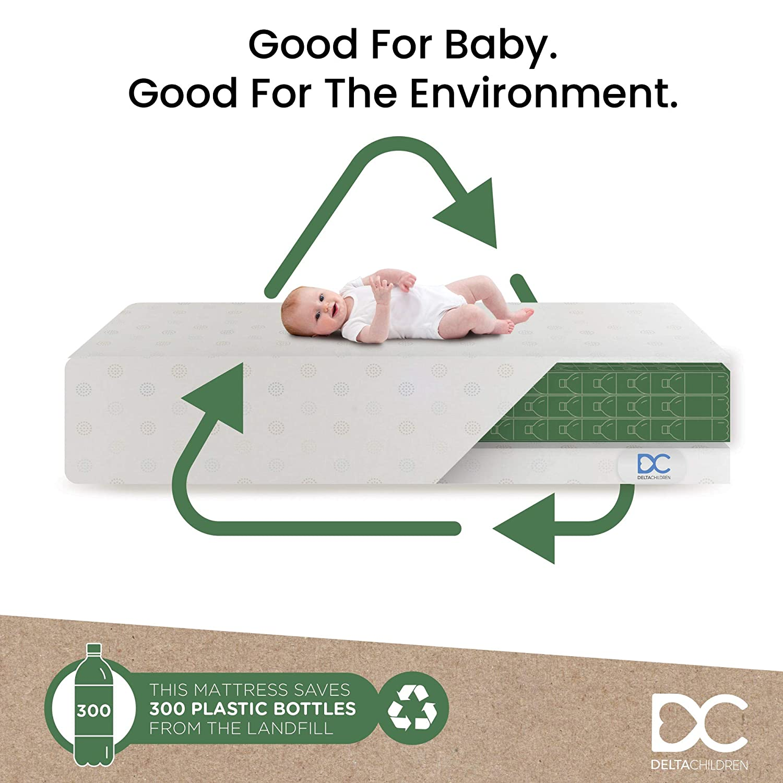 Delta Children Twinkle Stars Dual Sided Premium Baby Mattress