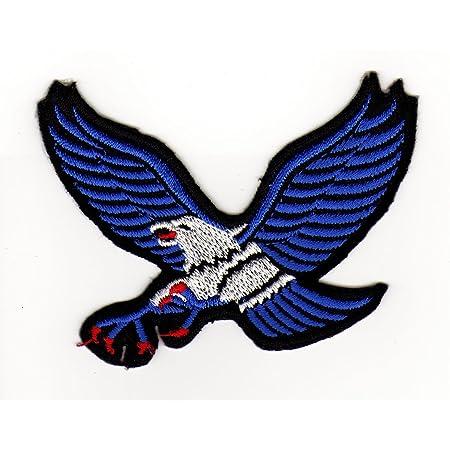 Aufnäher Bügelbild Aufbügler Iron On Patches Applikation Gelb Adler Eagle Auto