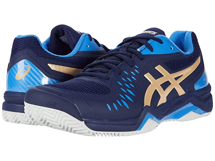 ASICS  Gel-Challenger 12 Clay (Peacoat/Champagne) Mens Tennis Shoes