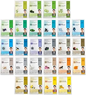 Best DERMAL 26 Green & Yellow Combo Pack Collagen Essence Full Face Facial Mask Sheet - The Ultimate Supreme Collection for Every Skin Condition Day to Day Skin Concerns Reviews