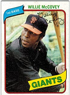 1980 Topps San Francisco Giants Team Set with Jack Clark & 2 Willie McCovey - 27 MLB Cards