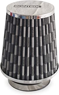 RONTEIX Universal Super Power Dry Flow Air Filter Intake Induction 3 Inches Inlet Oil Free (Carbon Fibre Black)