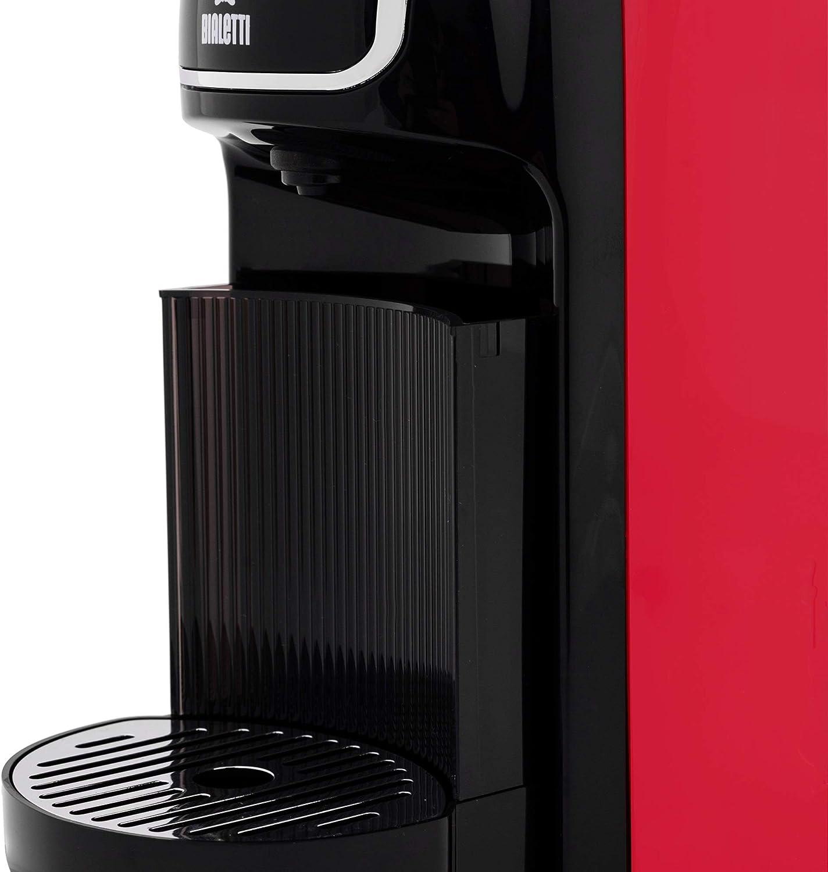 Bialetti Break Automatica Espressomachine (super compact) voor aluminium capsules, zwart rood