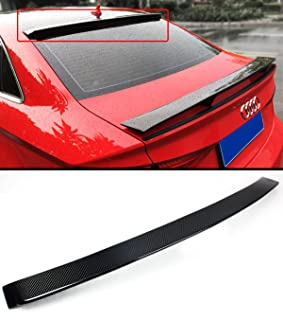 Cuztom Tuning Fits for 2014-2019 Audi A3 S3 RS3 Sedan VIP Carbon Fiber Rear Window Roof Spoiler Wing