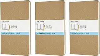 Moleskine Cahier Journal (Set of 3), Large, Dotted, Kraft, Soft Cover (5