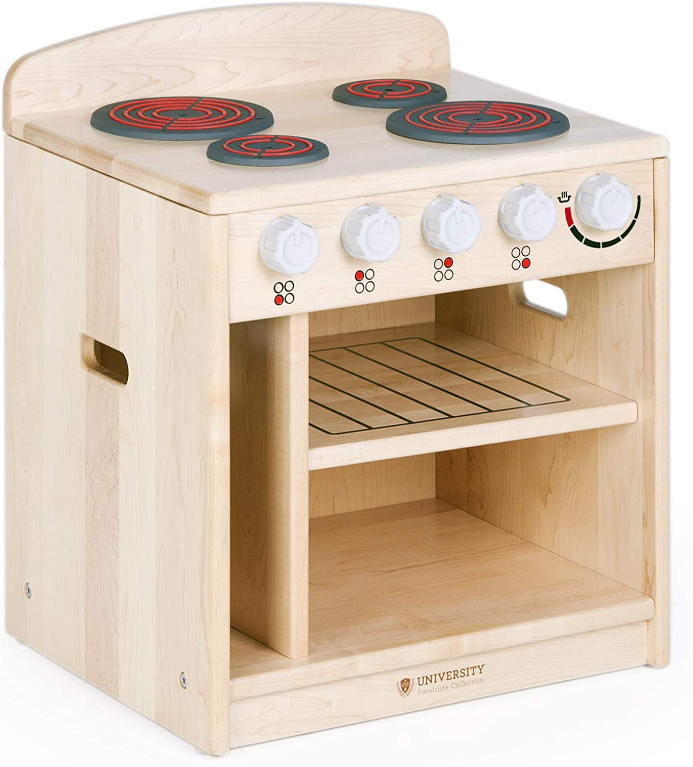 Guidecraft Toddler Stove - Solid Pretend Durable P Free shipping anywhere in the nation Animer and price revision Wooden Maple: