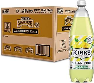 Kirks Sugar Free Lemon Squash 12 x 1.25L
