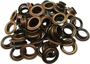 Weddecor 15mm Bronzen Messing Eyelets Grommets met ringen voor boeken, kunst & ambachten, naaien, zakken, plakboek, doe-he...