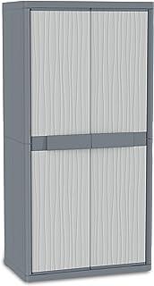 Terry Jumbo 3900 UW Armoire d'intérieur et d'extérieur à 2 portes, séparation vertical, 4 étagères internes, Gris, 89,7x53...