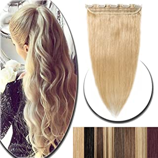 100% Real Hair Extensions Clip in Remy Human Hair 24