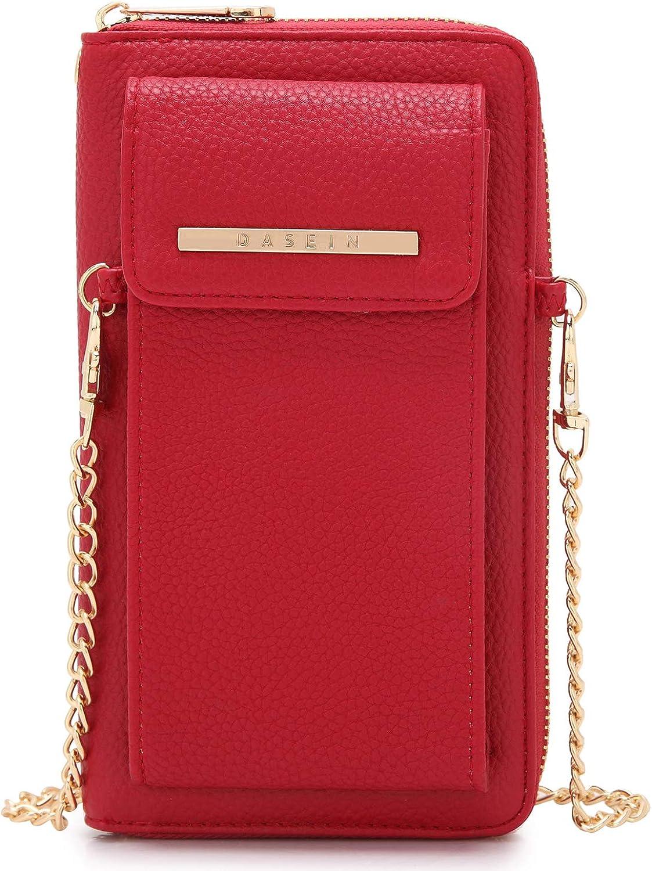 Cellphone Wallet Purse Phone Pouch Wristlet Clutch Crossbody Shoulder Bag  12 Slots
