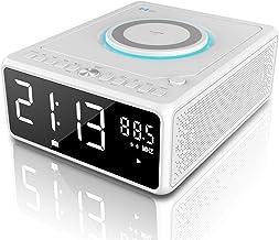 G Keni CD Player Boombox, Alarm Clock Radio, Bluetooth Speaker, Qi Wireless Charger,..