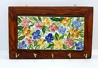 Portachiavi da Muro Ceramica Realizzato e dipinto a mano Le Ceramiche del Castello Made in Italy Dimensioni 18 x 23 cm Pez...
