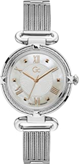Gc Womens Quartz Watch, Analog Display And Stainless Steel Strap - Y58005L1MF