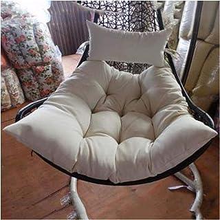 XiYou Cesta Colgante Cojines para sillas con Forma de Huevo Cojín de Mimbre para Columpio de ratán Cojín de Asiento Grueso sin Soporte Cojín para Silla de Hamaca de Huevo Colgante con Mullido