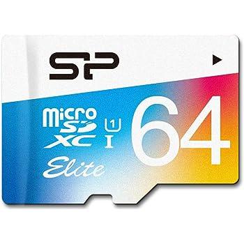 Silicon Power SP064GBSTXBU1V20SP Elite Scheda Micro SD da 64 GB con Adattatore SD, UHS-1 Classe 10, Velocità di Lettura Fino a 85MB/s, Nero