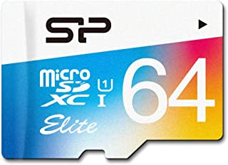 Silicon Power 64 GB Memory Card with SD Adapter, Elite MicroSDXC UHS-1 Class 10, Read up to 85MB/s