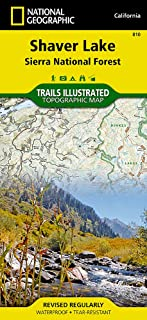 Shaver Lake / Sierra National Forest, California (Trails Illustrated Map) (National Geographic Trails Illustrated Map (810))