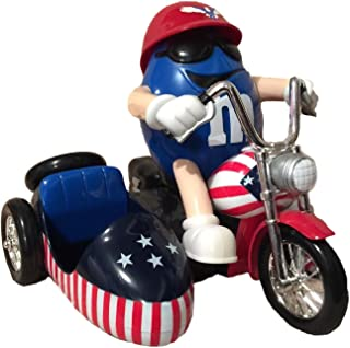 M&M's World Motorcycle with Side Car - Freedom Rider - Red, White & Blue Chocolate Candy Dispenser without a Collector's Box