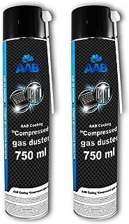2 x AAB PC Spray Limpiador 750ml para Limpiar Teclados, Ordenadores, Copiadoras, Cámaras, Impresoras y Otros Equipos Eléctricos, Duster, Eliminación de Polvo, Aire Comprimido, Botella, Soplador