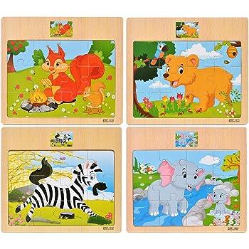 Puzzle en bois 9 pièces Animaux de La Ferme Puzzle premier