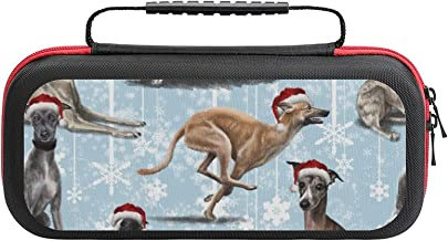 $26 » The Christmas Whippet Case Compatible with Switch Case Protective Carry Bag Hard Shell Storage Bag Portable Travel Case fo...