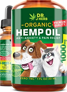 Hemp Oil for Dogs Cats Natural Hemp Extract Drops 9000 mg Made in USA Natural Dog Pain Relief Pet Stress & Anxiety Calming Support Health Easily Apply to Treats Pet Hemp Oil