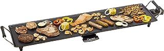 Bestron Plancha/Plaque de cuisson teppanyaki électrique 90,5 x 23,7 cm antiadhésive, 1800 W, Noir