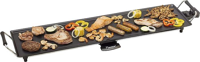 Bestron Elektrische XXL Plancha-/Teppanyaki-Grillplaat, 90,5 x 23,7 cm, met Anti-Aanbaklaag, 1800 W, Zwart