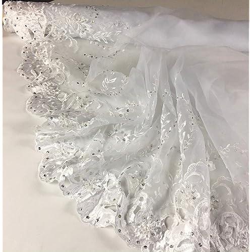 e97e94e380 Beaded Lace Fabric: Amazon.com